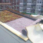 Montering af grønt tag på skrå hældning