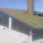 Grønne tage på VEKS Risø Spidslaststation