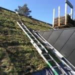 Montering af grønt tag ved skrå hældning  003