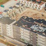 drone foto før grønne tage blev etableret